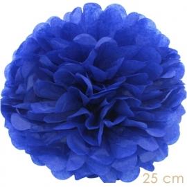 Pompom donker blauw 25cm