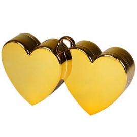 Ballongewicht dubbel hart goud