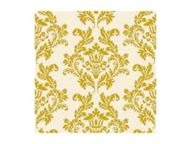 Paper napkins damask gold (20pcs)