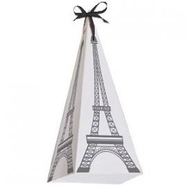 Paris party favor boxes (8pcs)