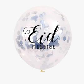 Eid confetti ballonnen zilver (5st)