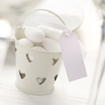 Mini pail ivory (5pcs)
