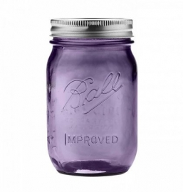 Mason jar heritage purple 16oz RM