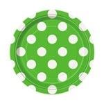 Dessert plates  green  polka dots (8pcs)