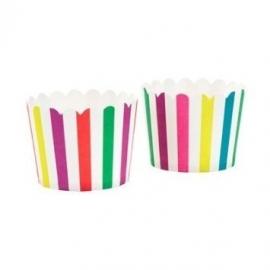 Cupcake cases rainbow stripes (20st)