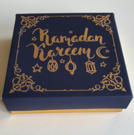 Kadodoosje Ramadan blauw goud (pst)