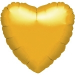 Foil balloon heart gold (18inch)