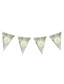 Eid bunting flags tropical green