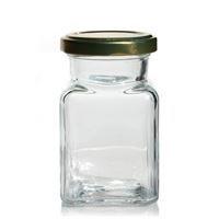 Glass jar small rectangle high (ea)