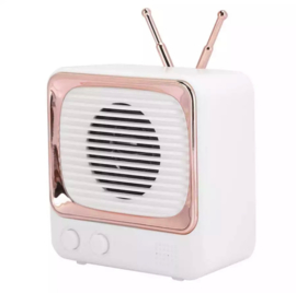 Mini bluetooth speaker retro TV