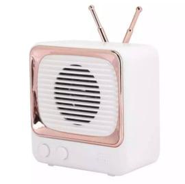 Mini bluetooth speaker retro tv