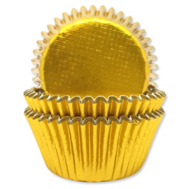 Cupcake cases goud folie (45st)