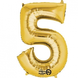 Golden foil balloon 5