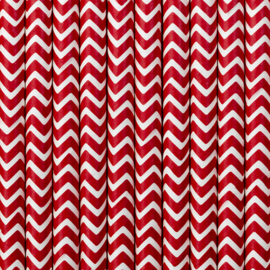 Paper straws red chevron