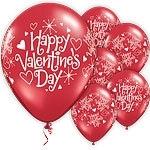 Latex ballonnen Valentine's day (6st)