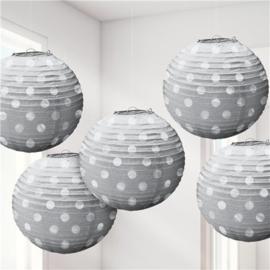 Paper lanterns silver (5pc)