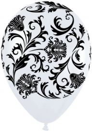 Balloon white damask (each)
