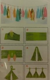 DIY Tassels ivoor (5st)
