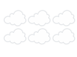 Labels clouds (6pcs)