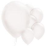Ballonnen wit parelmoer  (10st)