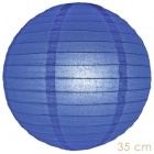 Paper lantern royal blue 35cm