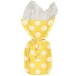 Cello bags yellow dots (20pcs)