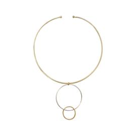 Collier cirkels goud zilver
