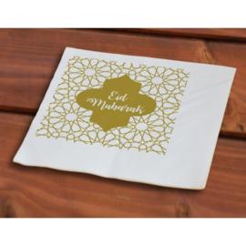 Servetten Eid goud wit (50st)