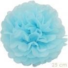 Pompom licht blauw 25cm