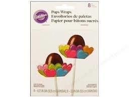Cake pop wraps (8pcs)