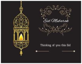 Eid wenskaart black gold