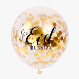 Eid confetti ballonnen goud (5st)