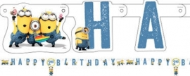 Happy birthday banner Minions