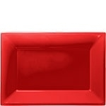 Serving platters red (3pcs)
