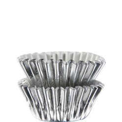 Cupcake cases mini zilver (75st)