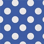 Wrapping paper blue polkadots