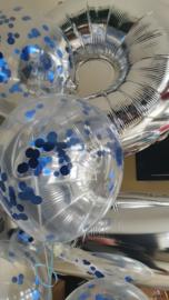 Confetti balloons blue foil (5pcs)
