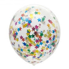 Confetti balloons colorful stars (5pcs)