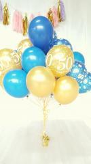 Latex ballonnen gevuld met helium (pst)