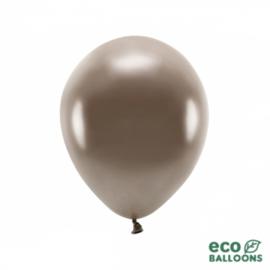 Ballonnen bruin metallic (10st)