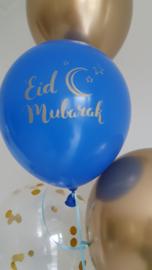 Ballonnen Eid partyzz mix blauw/goud (5st)
