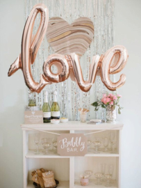 LOVE foil ballon rose goud