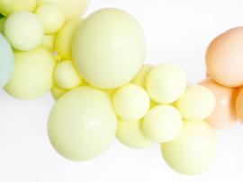 Ballonnen geel pastel mat (10st)