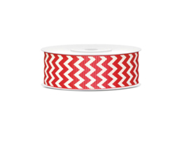 Grosgrain ribbon red chevron