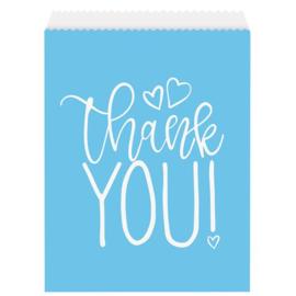 Snoepzakjes thank you blauw (8st)