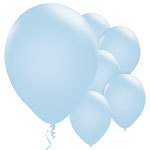 Ballonnen powder blue metallic (10st)
