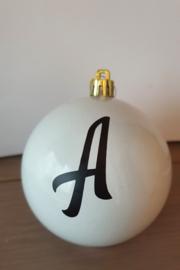 Kerstbal met letter