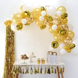 Ballonslinger set goud