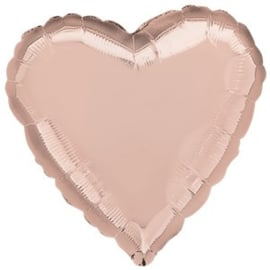 Foil balloon heart rose gold