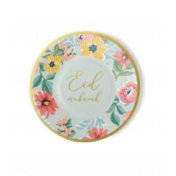Papieren borden Eid bloemen (6st)